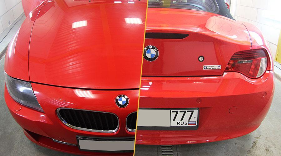 Полировка бампера  BMW Z4
