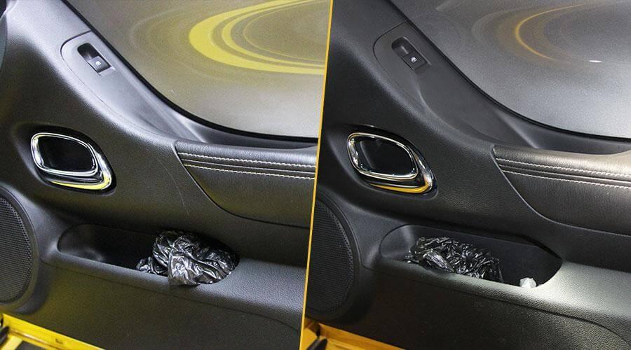 Удаление царапин на обшивке двери Chevrolet Camaro