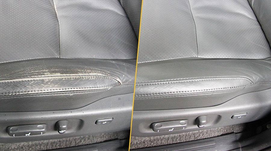Реставрация переднего кресла Toyota Prado
