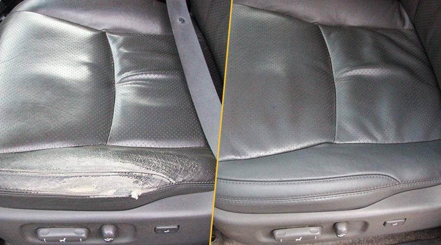 Локальная замена элемента сиденья и покраска Toyota LC Prado