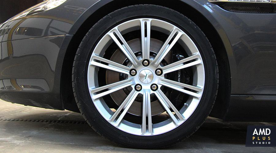 Полировка дисков автомобиля Aston Martin Rapide