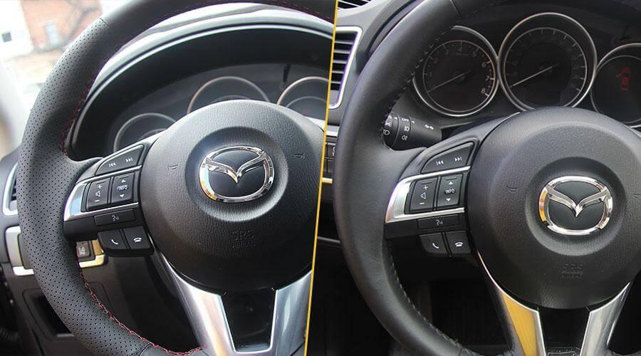 Перетяжка руля кожей Mazda