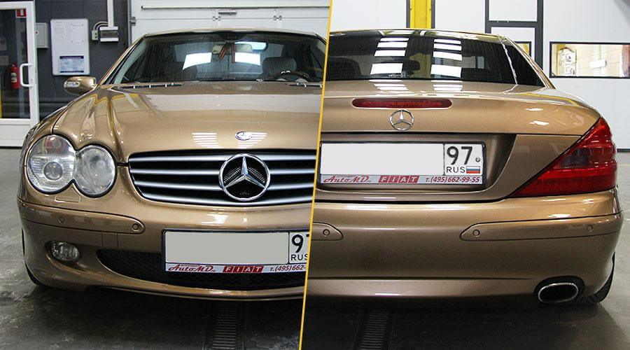 Снятие пленки и полировка Mercedes-Benz SL 500