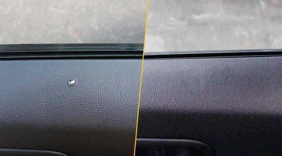 Устранение прожога на ткани Nissan X-Trail