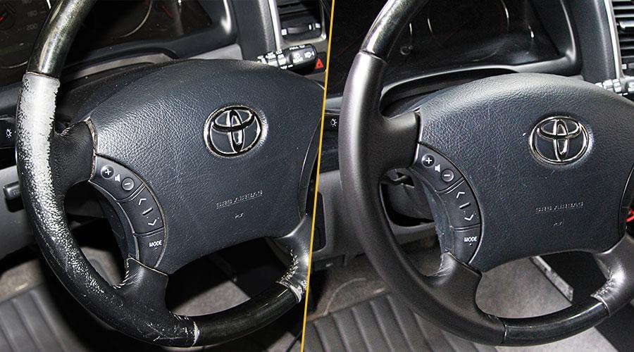 Покраска руля Toyota Prado