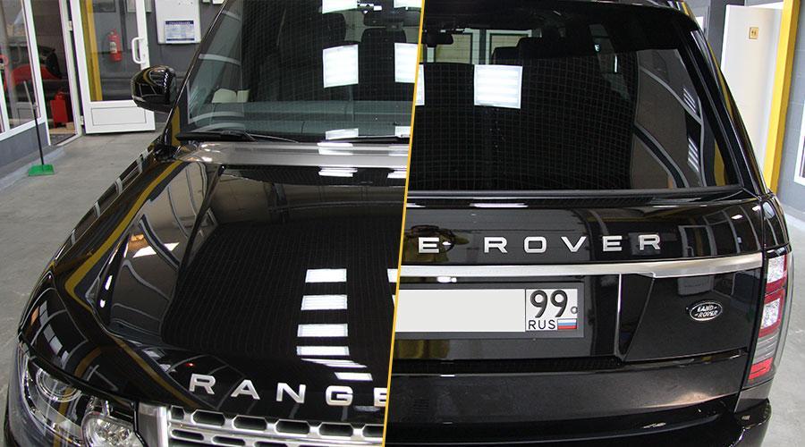 Полировка бампера  Range Rover