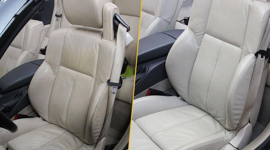 Покраска сидений BMW 645 Ci