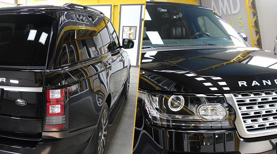Полировка капота  Range Rover
