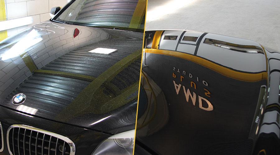 Полировка капота  BMW 750