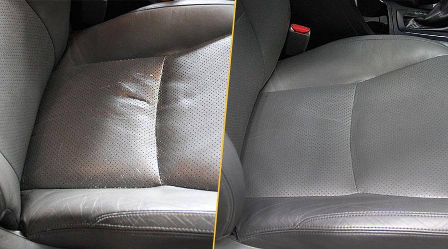 Покраска двух передних сидений Toyota Land Cruiser Prado 120