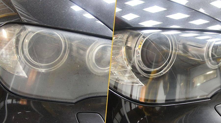 Полировка фар с нанесением защитного покрытия Opti Lens Coating BMW X5