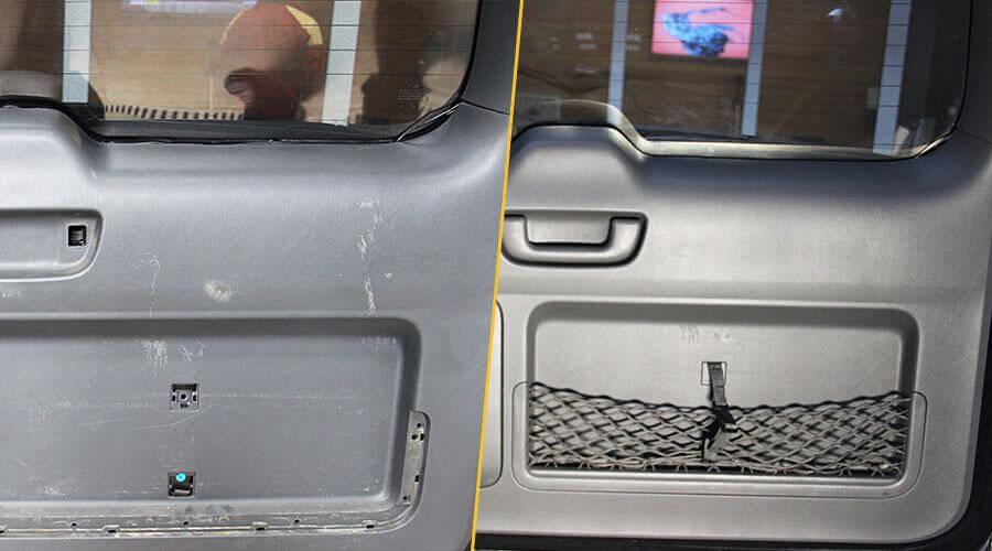 Реставрация пластика в багажном отделении Toyota Land Cruiser Prado 120