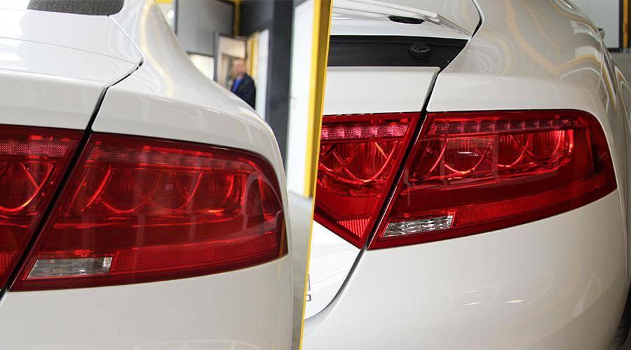 Полировка 2х задних фар с нанесением покрытия Audi A7