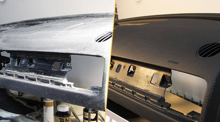 Перетяжка торпедо винилом для Volkswagen