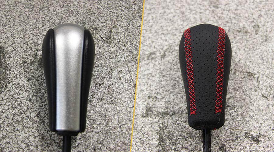 Перетяжка ручки АКПП кожей BMW Z4
