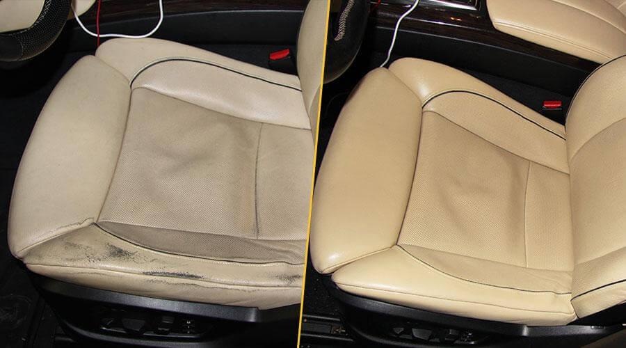 Реставрация кресел, центрального подлокотника и обшивок дверей BMW X6
