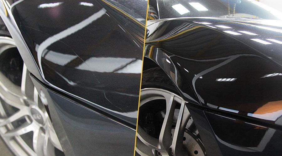 Локальная полировка  Audi R8