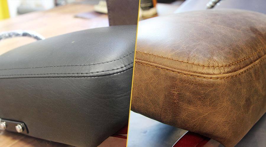 Перетяжка сидений кожей