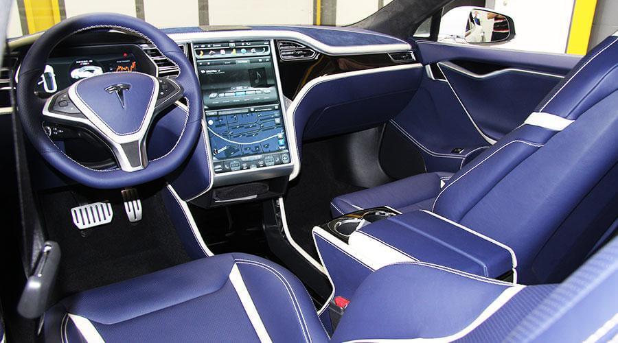 Комплексная перетяжка салона Tesla