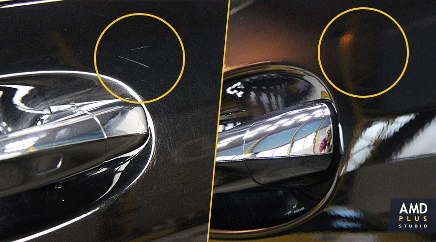 Полировка двери  Mercedes-Maybach