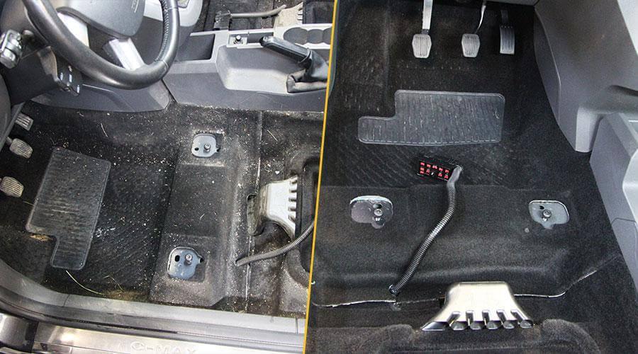Комплексная химчистка салона Ford C-Max