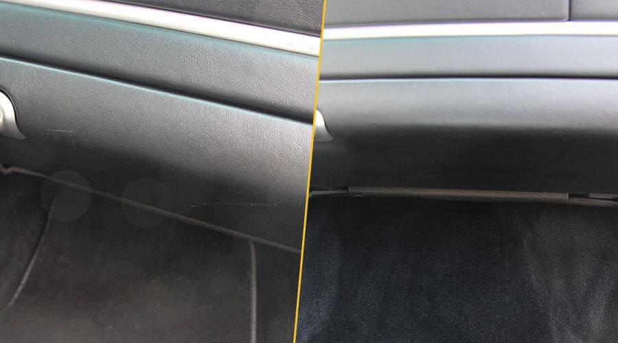 Удаление царапины на бардачке Porsche