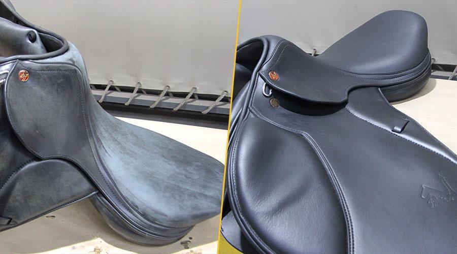 Реставрация кожаного седла